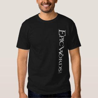 Men's Dark Verticle Epic Words Logo T-shirt
