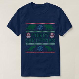 Men's Dinosaur Ugly Christmas Sweater T-Shirt