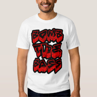 mens dubstep Bomb the Bass club D  shirt