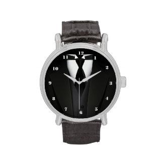 Mens' Elegant Black Suit Watch