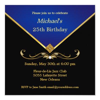Men S Elegant Gold Black 60th Brithday Invitations Zazzle Com