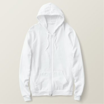 Beach Themed Men's Embroidered American Apparel Zip Hoodie