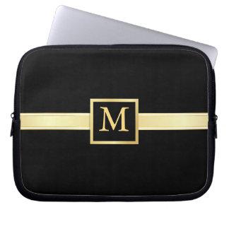 Men's Executive Style Monogram Laptop Skin Computer Sleeve