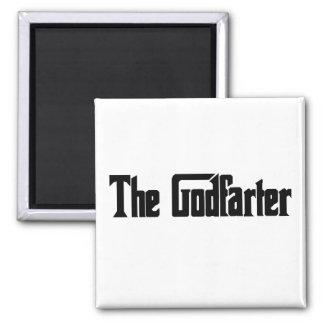 """Men's Fart Humor Gifts """"The Godfarter"""" 2 Inch Square Magnet"""