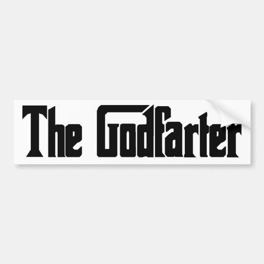 "Men's Fart Humor Gifts ""The Godfarter"" Bumper Sticker"