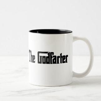 "Men's Fart Humor Gifts ""The Godfarter"" Two-Tone Coffee Mug"