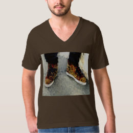 Mens Fashion Spike Sneakers T Shirt