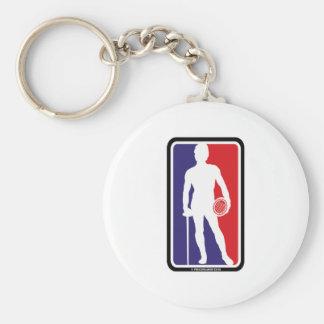Men's Fencing Basic Round Button Keychain