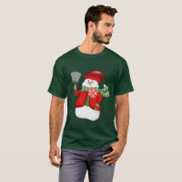 Mens Festive snowman Christmas Holiday t-shirt