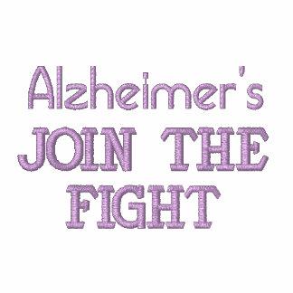 Mens Fight Alzheimer's Disease Tee Shirt Embroidered Polo Shirt