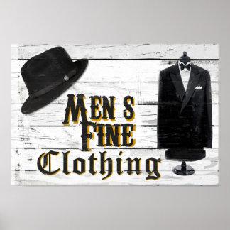 Men's Fine Clothing II Poster