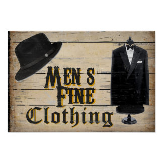 Men's Fine Clothing Posters