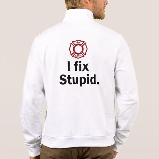 Men's Fire fighter I fix stupid Tee Shirt