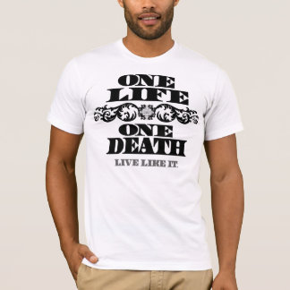 Men's Fire Star T-One Life, One Death/black T-Shirt