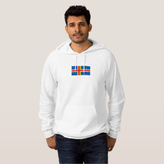 Mens Flag of the Aland Islands Hoodie