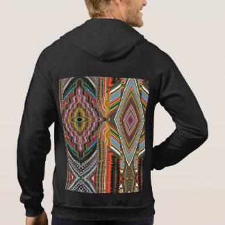 Men's Fleece Sleeveles with Ethnic print Hoodie