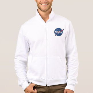 Mens Fleece Zip Jogger With Nasa Logo Jacket