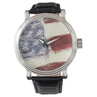 Men's Formal Patriotic Watch with U.S. Flag