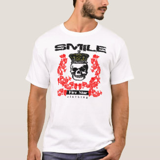 Men's FS T-smile with the skull T-Shirt