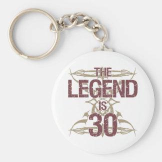 Men's Funny 30th Birthday Keychain