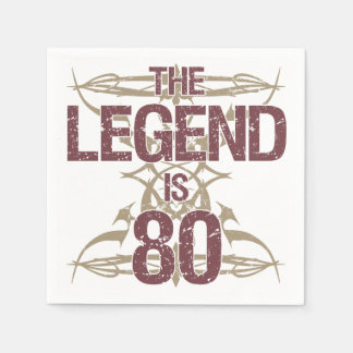 Men's Funny 80th Birthday Napkin
