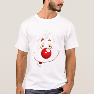 Men's Funny Cartoon Joker Face T-Shirt