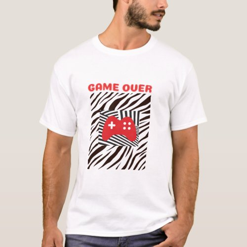mens game over T_shirt