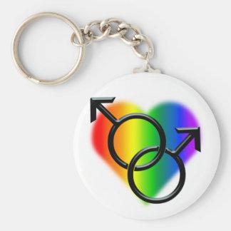 Men's Gay Pride Keychain Rainbow Love Gift