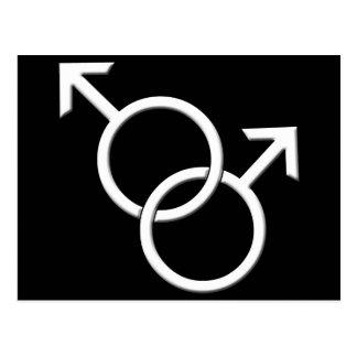 Men's Gay Pride Postcards Same-Sex Love Cards