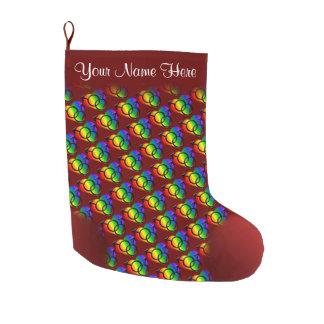 Men's Gay Pride Stocking Personalize Love Stocking Large Christmas Stocking