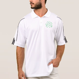 Men's golf polo T-shirt with clover leaves
