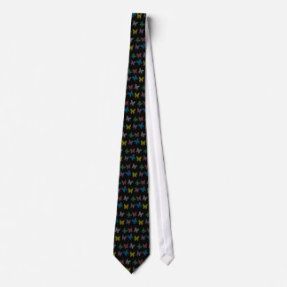 Mens Graphic Stripe Butterfly Tie