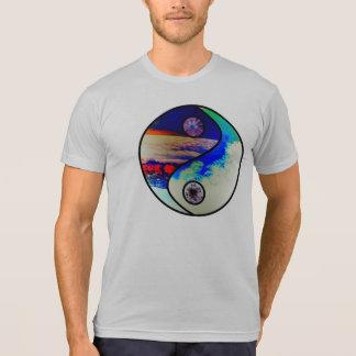 Mens Gray Ying Yang Nature Logo T Shirt