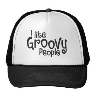 Mens Groovy Ball Cap Trucker Hat