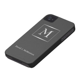 Mens Gunmetal Gray Monogram Blackberry Case