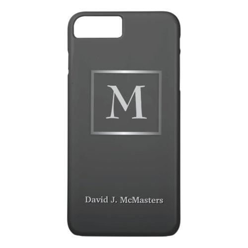 Men's Gunmetal Gray Monogram Executive Case Phone Case