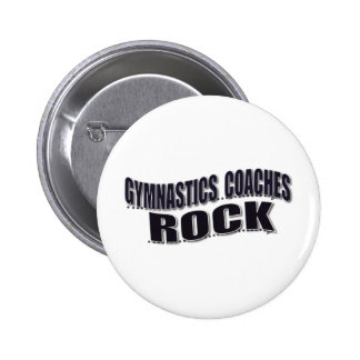 Mens Gymnastics Coach Gifts Buttons