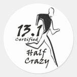 """Men's """"Half Crazy"""" Sticker"""