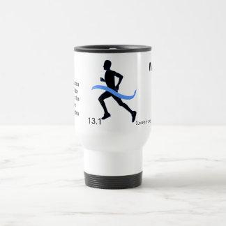 Men's Half Marathon Blue Ribbon 15 Oz Stainless Steel Travel Mug