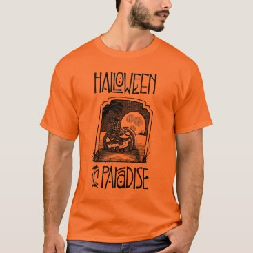 Beach Themed Men's Halloween In Paradise T-Shirt