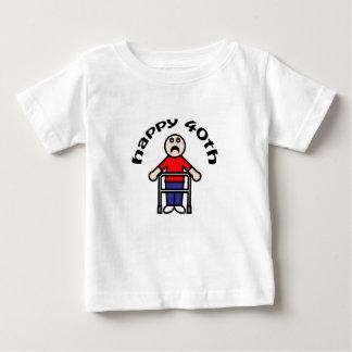 "Mens, ""Happy 40th"" Baby T-Shirt"