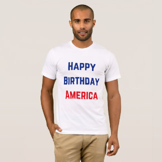 Men's Happy Birthday America T-Shirt