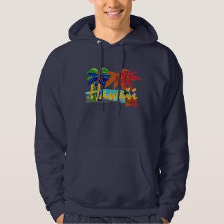 Mens Hawaii palm tree hoodie