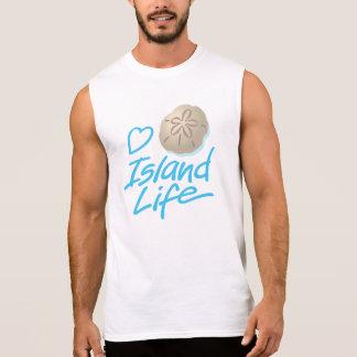 Men's Heart Island Life Sleeveless T-shirt
