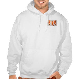 Men's Hooded Sweatshirt with Sea Horse Design