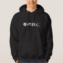 Men's Hoodie - White logo with alanfraze.com