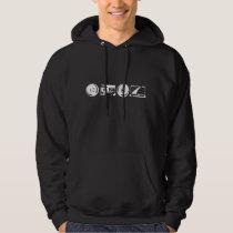 Men's Hoodie - White logo with alanfraze.com