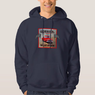 Men's Hoodie with, Old Cars Never Die!