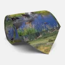 Mens Horses Runnin Through Water Western Neck Tie