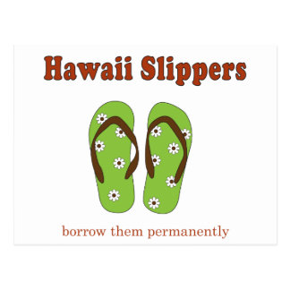 Mens House Shoes Slippers Postcard